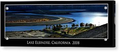 Lake Elsinore Sunset Acrylic Print by Richard Gordon