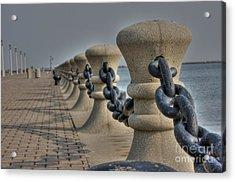 Lake Erie Acrylic Print by David Bearden