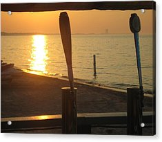Lake Erie On Tap Acrylic Print by Toni Jackson