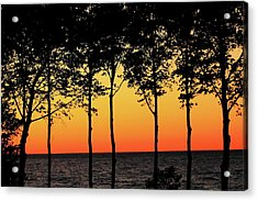 Acrylic Print featuring the photograph Lake Erie Silhouettes by Bruce Patrick Smith