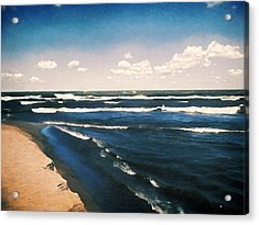 Lake Erie Whitecaps  Acrylic Print by Shawna Rowe