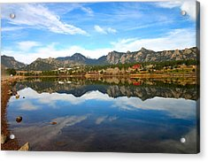 Lake Estes Reflections Acrylic Print