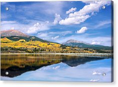 Acrylic Print featuring the photograph Lake Forebay Reflections by Tim Reaves