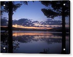 Lake Francis Twilight Acrylic Print by John Burk
