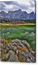 Lake Fusine Acrylic Print