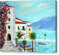Lake Garda Bliss Acrylic Print by Larry Cirigliano