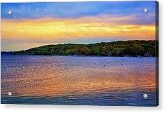 Lake Geneva Sunset Acrylic Print by Joe Urbz
