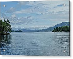 Lake George Kayaker Acrylic Print