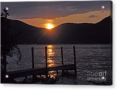 Lake George New York Sunset Acrylic Print