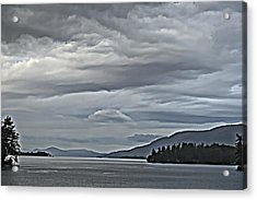 Lake George Rain And Clouds Acrylic Print