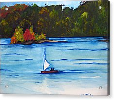 Lake Glenville  Sold Acrylic Print by Lil Taylor