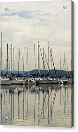 Lake Guntersville Alabama Sailboat Harbor Acrylic Print by Kathy Clark