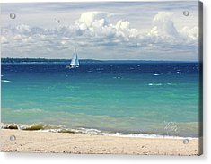 Lake Huron Sailboat Acrylic Print