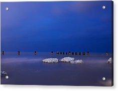 Lake Ice Chicago Acrylic Print by Steve Gadomski