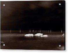 Lake Ice Acrylic Print by Steve Gadomski