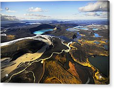 Lake In An Old Volcanic Crater Or Acrylic Print by Mattias Klum