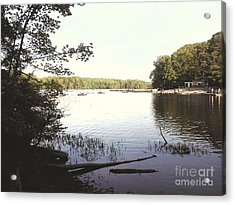 Lake At Burke Va Park Acrylic Print