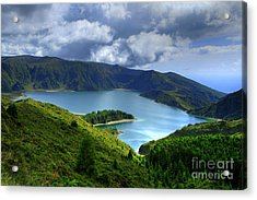 Lake In The Azores Acrylic Print by Gaspar Avila