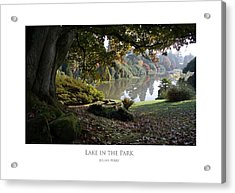Lake In The Park Acrylic Print