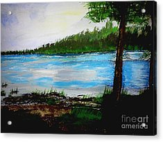 Lake In Virginia The Painting Acrylic Print