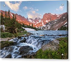 Acrylic Print featuring the photograph Lake Isabelle Sunrise by Aaron Spong