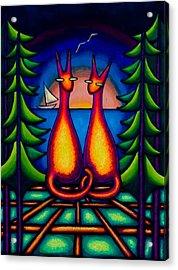 Lake Kats Acrylic Print