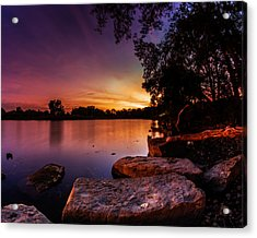 Lake Kirsty Twilight Acrylic Print by Chris Bordeleau