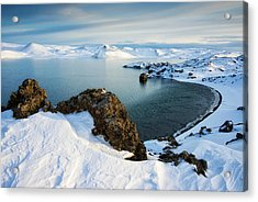 Acrylic Print featuring the photograph Lake Kleifarvatn Iceland In Winter by Matthias Hauser
