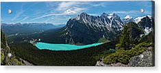 Acrylic Print featuring the photograph Lake Louise From Little Beehive Overlook by Owen Weber