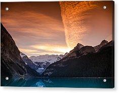 Lake Louise Sunset Acrylic Print