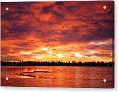 Lake Loveland Sunrise Acrylic Print by Billie Colson