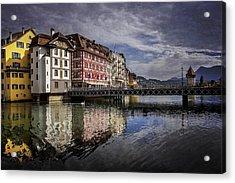 Lake Lucerne  Acrylic Print by Carol Japp