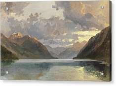 Lake Lucerne Acrylic Print by James Duffield Harding