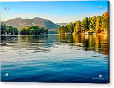 Acrylic Print featuring the photograph Lake Lure On A Calm Fall Morning by Claudia Abbott