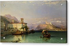 Lake Maggiore Acrylic Print by George Edwards Hering