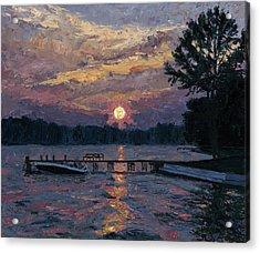Lake Martin Sunset Acrylic Print by Tyler Smith