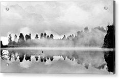 Lake Matheson At Dawn Acrylic Print by Nicole Huebscher