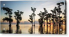 Lake Maurepas Sunrise Acrylic Print by Andy Crawford