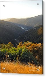 Lake Mcclure Ca Acrylic Print by Cindy Murphy - NightVisions
