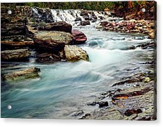 Lake Mcdonald Falls, Glacier National Park, Montana Acrylic Print