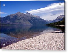 Lake Mcdonald Reflection Glacier National Park 4 Acrylic Print by Marty Koch