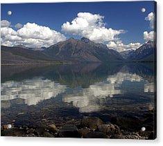 Lake Mcdonald Reflection Glacier National Park Acrylic Print by Marty Koch