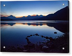 Acrylic Print featuring the photograph Lake Mcdonald Sunrise Tranquility by Lon Dittrick