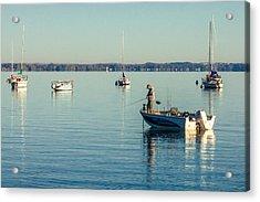 Lake Mendota Fishing Acrylic Print by Todd Klassy