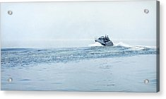 Acrylic Print featuring the photograph Lake Michigan Boating by Lars Lentz
