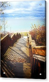 Acrylic Print featuring the photograph Lake Michigan In The North by Michelle Calkins
