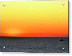Lake Michigan Sunrise Acrylic Print by Zawhaus Photography