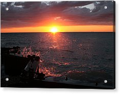 Acrylic Print featuring the photograph Lake Michigan Sunset by Bruce Patrick Smith