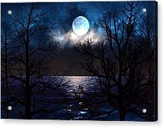 Lake Midnight Acrylic Print