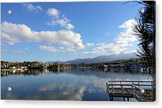 Lake Mission Viejo Cloud Reflections Acrylic Print